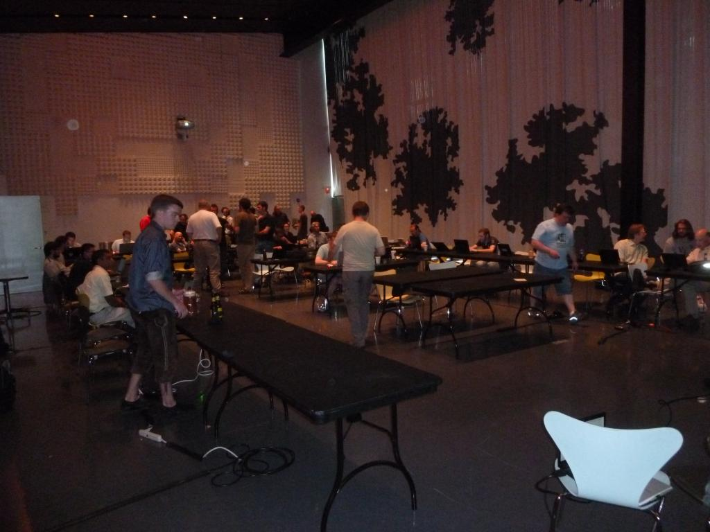 The venue during the free-beer event 1/2